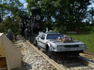 delorian on tracks