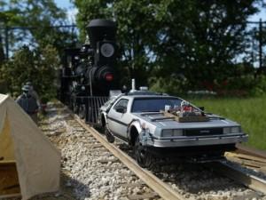 delorian on tracks