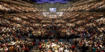gigantic church service